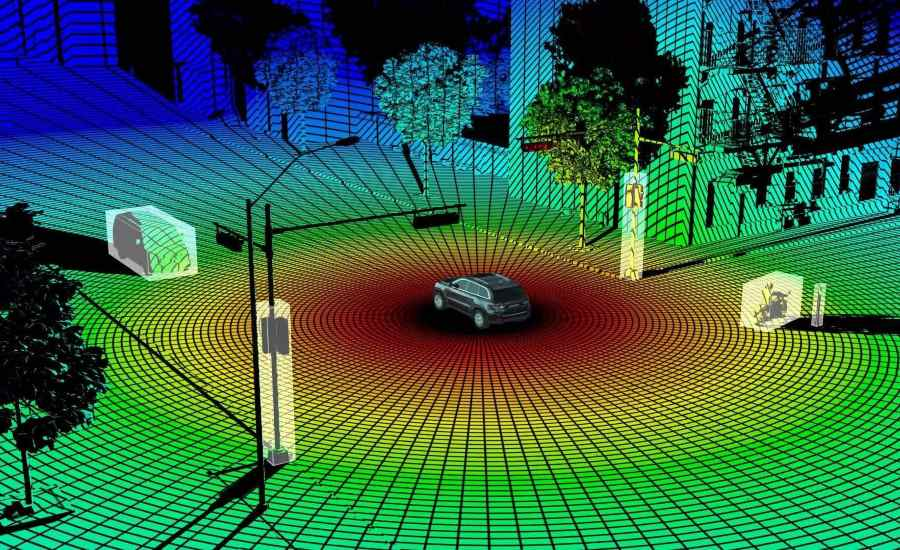 300 DPI - LIDAR Image of Car and Nearby Objects - 300 DPI